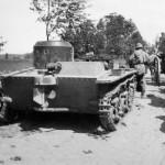 amphibious scout tank T-38 rear view