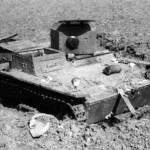 knocked out soviet amphibious light tank T-38