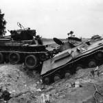 T-40 amphibious light tank and BT tank