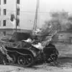 burning T 60 tank