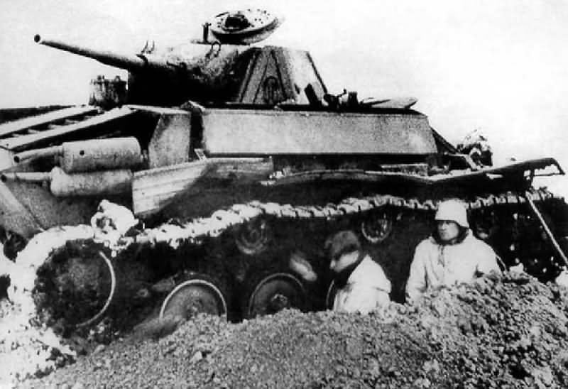 Destroyed T-70 tank 4