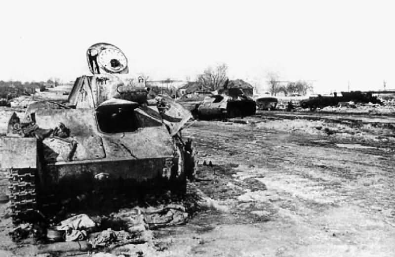 Destroyed T-70 tank 6