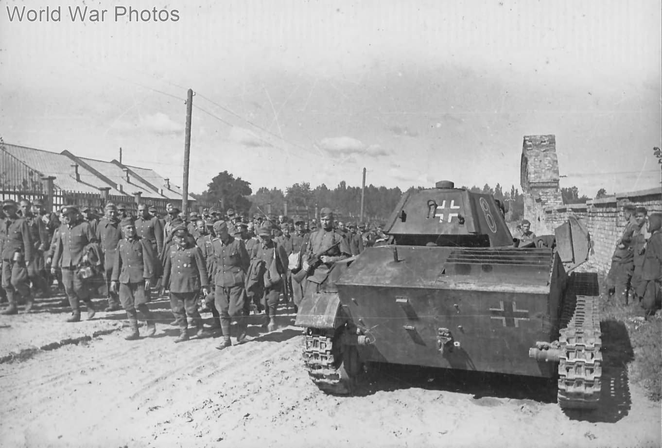 German prisoners and ex-german T-70 near Kiev August 16, 1944 2