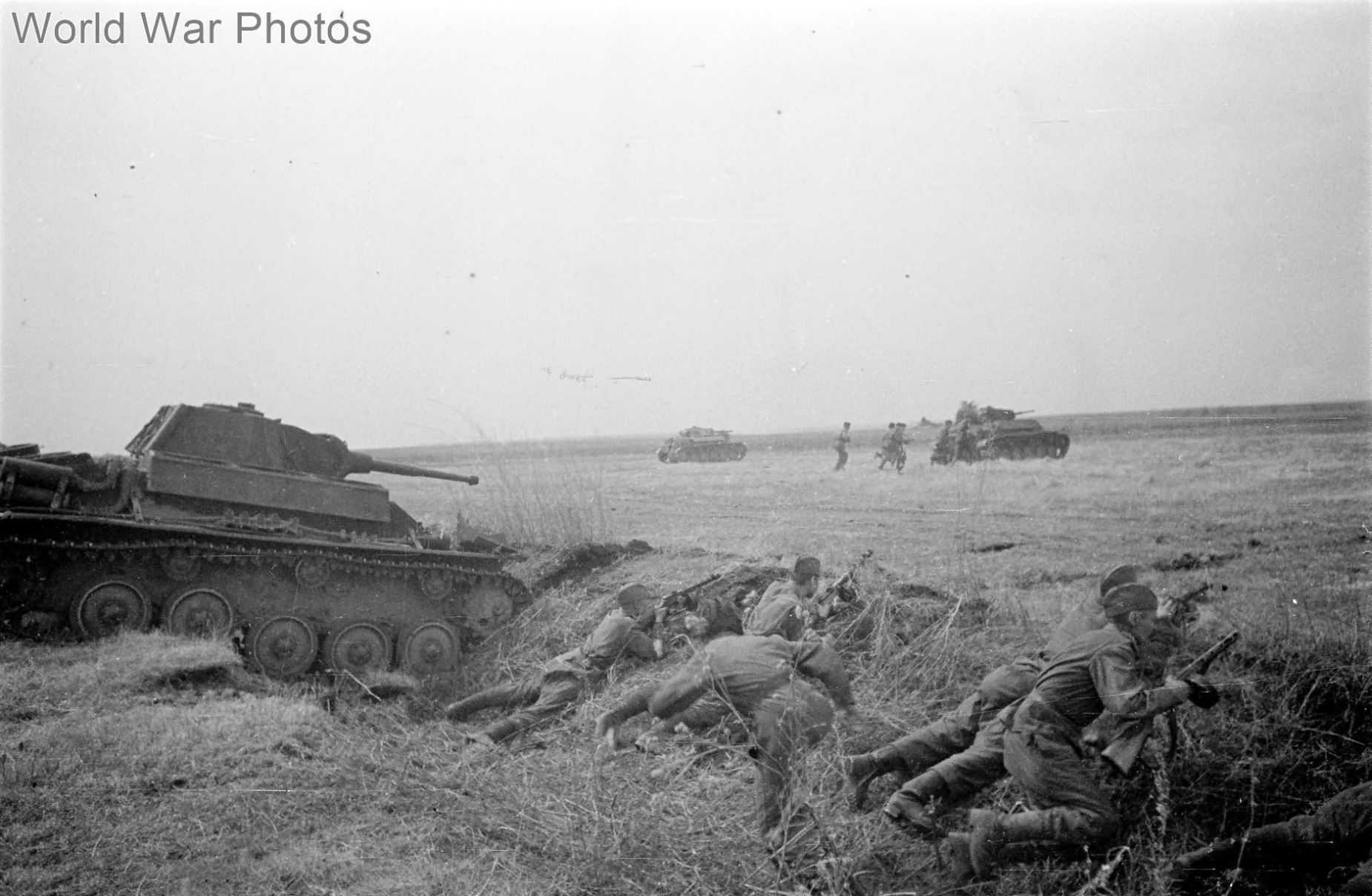 T-70 and Troops of the 5th Guard Tank Corps