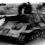 Destroyed T-70 tank 3