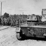 German prisoners T-70 near Kiev August 16 1944